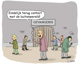 cartoon Carré gevangenen